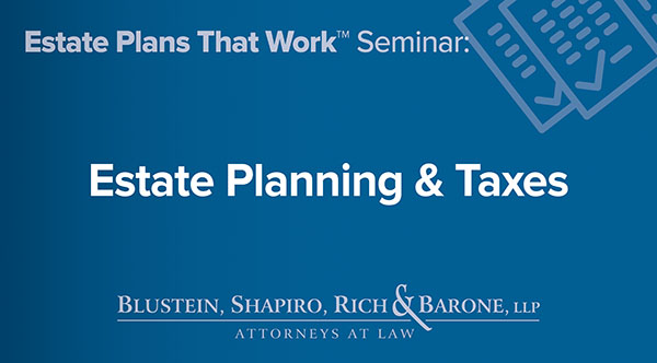 Estate Planning & Taxes NY