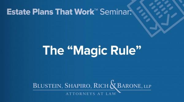 The Magic Rule of BSR&B
