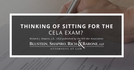 CELA Article at Blustein, Shapiro, Rich & Barone, LLP